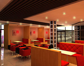 Fast Food Restaurant 3D model game-ready