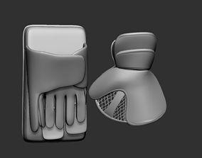 Ice Hockey Goalie Gloves 02 Collectible Figure 3D