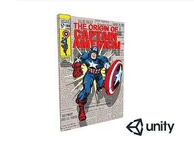 Captain America 3D Comic VR / AR ready