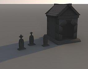 tombstone 3D asset