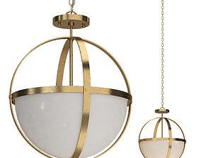 3D Satin Bronze Raine 2 - Light Shaded Globe
