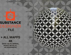 Marble tile floor Texture 3D model