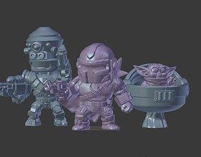 3D printable model Chibi Bounty Hunter Crew miniatures