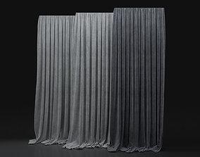 3D model Curtain Blue-26