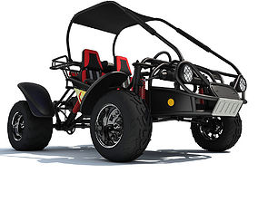 3D model Red Seat Off Road Buggy HammerHead