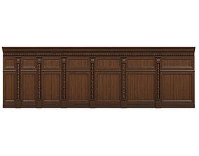 3D asset VR / AR ready Threaded wood panels 015