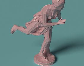 Polygonal Statue Atalante printable