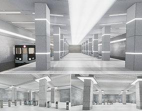 Subway Station 02 3D asset