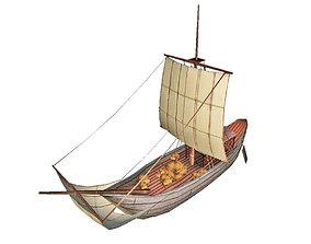 3D asset Roman Ship