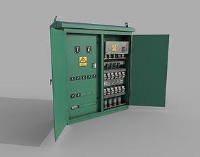 3D asset Electric Fuse Box Green