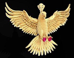 3D print model Eagle Pendant 1573 hollow