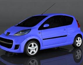 Peugeot 107 3D asset low-poly