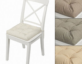 3D model Ingolf chair with a pillow Hoff Other fabrics 01