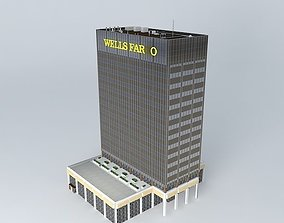 Office Building city old 3D