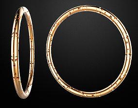 3D print model cylinder bracelet -curved