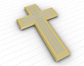 3D asset VR / AR ready orthodox religious Cross