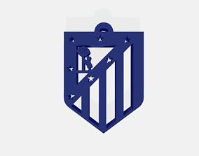 3D printable model Atletico de Madrid escudo Llavero