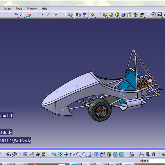 Chassis design on the Formula 1 frame
