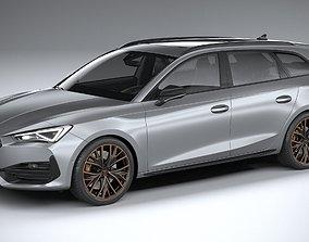 3D model Seat Leon Sportstourer Cupra 2021