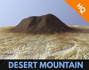 3D model Desert Mountain Africa Landscape Dunes PBR Low 2