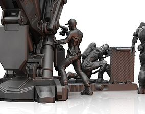 3D printable model Scifi Technicians