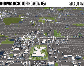 3D Bismarck North Dakota USA 50x50km