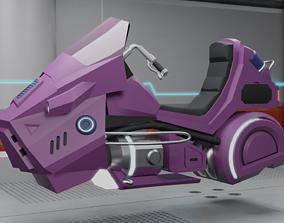 3D asset sci-fi vehicle