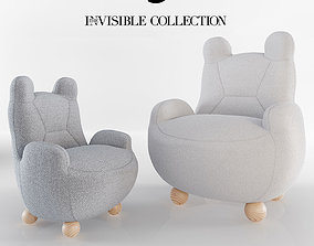 3D model ARMCHAIR BABY BEAR and PAPA BEAR