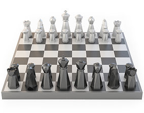 3D model Low Poly Chess