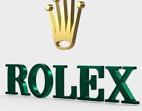 3D rolex logo