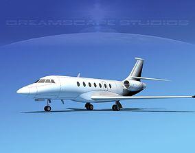 3D Dassault Falcon 2000 V11