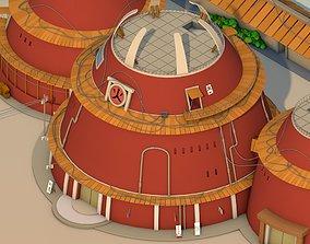 3D model Hokage Building - Naruto