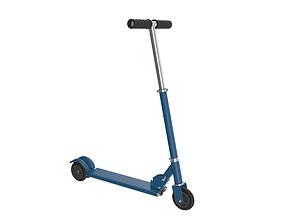 3D model Kick scooter blue