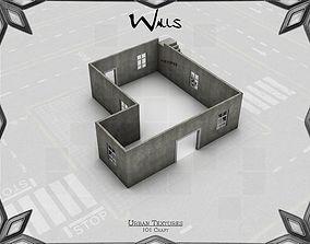 3D asset Urban Walls Texture Pack