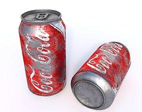 scratch Coca-Cola Dirt Can 3D model