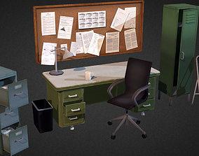 3D asset Office Interior Props