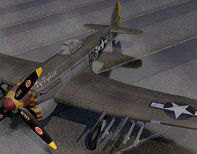 Hawker Typhoon Mk-1B Late - USAF 3D model