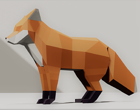 Fox lowpoly Low-poly 3D model low-poly
