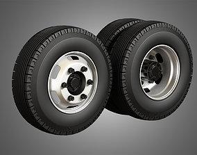 Medium Duty Trucks Tires and Rims 3D model