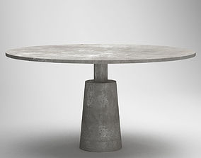 Grey Marble Circle Table 3D model