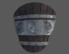 3D asset game-ready medieval shield sword