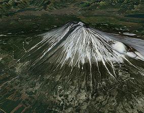3D Mount Fuji Japan
