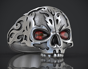 3D print model Ring Skull without jaw