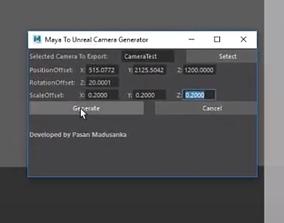 Maya to Unreal Engine Camera exporter 3D model
