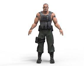 Commando 3D model