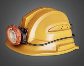 3D model HAT - Miners Helmet - PBR Game Ready