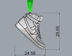 3D printable model fasion nike air jordan pendant