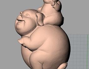 3D model Animal Sculpture Model Pig mother A088