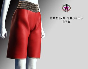 3D asset Boxing Gloves - Red