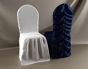 wedding chair 3D model tablecloth